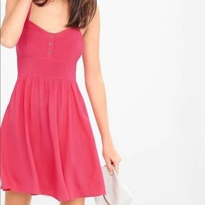 Express hot pink spaghetti strap dress